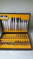 24PC RETRO  STAINLESS STEEL CUTLERY SET - ASHBERRY - RONDELAY