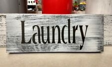 "farmhouse wood sign LAUNDRY room  laundry sign rustic laundry small 9"" country"
