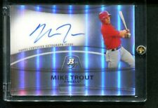 2010 Bowman Platinum MIKE TROUT Auto Autograph Refractor Angels
