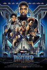 "Black Panther Movie Poster 2018 13x20"" 27x40"" 32x48"" Marvel Comics Film Print"