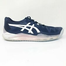 Asics Womens Gel Resolution 8 1042A072 Blue White Running Shoes Lace Up Size 9.5