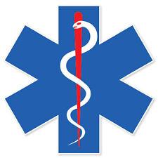 "Medical Alert Symbol EMS EMT medics sticker 4"" x 5"""