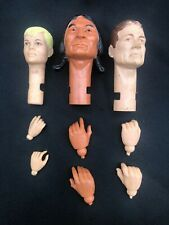 VTG Marx Best of the West Heads & Hands Johnny, Jay & Chief Cherokee