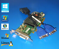 HP Compaq Elite SFF 8000 8100 8200 8300 Short Dual VGA Monitor Video Card