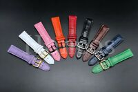 20-22 MM LEATHER STRAP BAND FOR OMEGA SEAMASTER PLANET OCEAN TANK BUCKLE CLASP