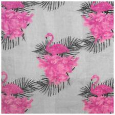 Loopschal mit rosa Flamingos grau dunkelgrau pink Schal Schlauchschal Damen