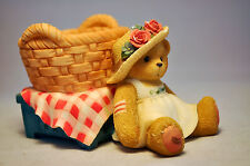 Cherished Teddies: Bear With Basket - 353922 - Candle Holder