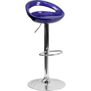 Flash Furniture Blue Contemporary Barstool, Blue - CH-TC3-1062-BL-GG