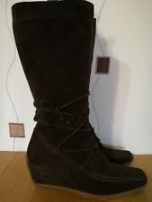 BOOTS 6 39 BROWN LEATHER SUEDE WINTER COUNTRY JACK STUDIO
