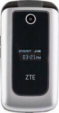 "Verizon Prepaid ZTE Cymbal LTE Z233V Silver 4G Lte 4GB 2.8"" Flip Phone Free Ship"
