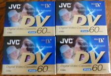 JVC Mini DV Cassette DVM60 x 4 New Sealed
