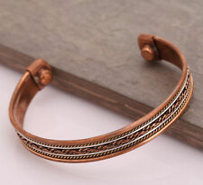 Womens Magnetic Healing Bio Therapy Tibetan Pain Relief Bangle Copper Bracelet