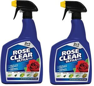 Rose Clear Ultra spray Insecticide Fungicide Kills Insect Aphids Bugs  pack of 2