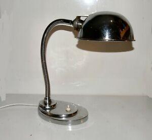 Art Deco Chrome Swan Neck Desk Lamp