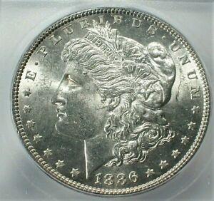 1886 USA Morgan Silver Dollar ICG MS64 Condition KM# 110  (736)