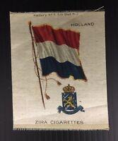 Vintage Zira Cigarettes Holland Flag Tobacco Card Silk