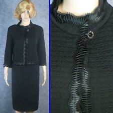 EXQUISITE! ST JOHN COUTURE KNIT BLACK JACKET  DAY OR EVENING SZ 6