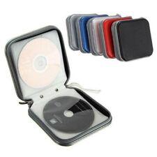 CD/DVD 40 Disc Storage Case Cover Car Home Album Zipper Organizer Disc Holder