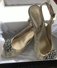 KAREN SCOTT - Womens Slingback Pumps Heels Peep Toe BRIANT in Gold - Size 8M