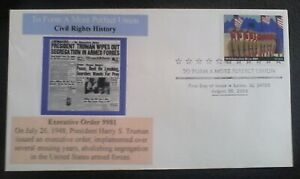 First day of issue, 2005 Civil Rights History, Executive Order 9981 # 3937a