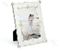 Silver & White Photo Frame Fashion Wedding Picture Decoration Resin