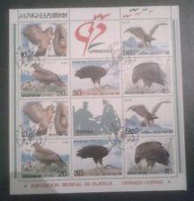 #28 Birds of Pray 1992  sheet, Korea democratic republic, SC# A1407 (3056-3060)
