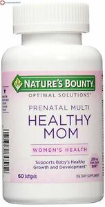 Nature's Bounty Optimal Solutions Healthy Mom Prenatal Multi, 60 Softgels