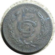 elf Mexico 5 Centavos 1921