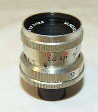 Jena BIOTAR 2/12,5mm.Lens,mount movie camera PENTAKA,Germany