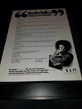 Lee Oskar Blt Rare Original Promo Poster Ad Framed!
