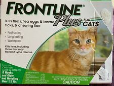 Frontline Plus Flea and Tick Treatment for Cats and Kittens - 5 Doses - Open Box