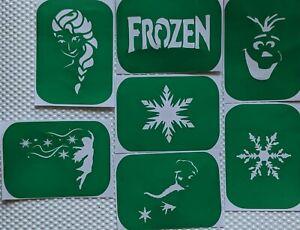 7 x Frozen-2 Body Art Stencils And Glass Etching Stencils Glitter Stencil Art