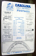1984 UNC Tar Heel / NC State Wolfpack Reversible Football Schedule Poster