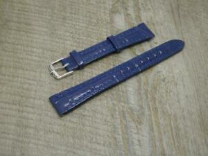 Ladies Rotary Original Blue,16mm,Grained Leather Watch Strap & Rotary Buckle