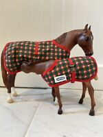Breyer Model horse Foal And Mare With Blankets