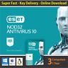 ESET NOD32 AntiVirus 2018 Latest, 1 or 3 PCs / 1 Year - License in eBay Message