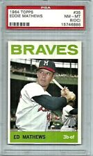 Ed Mathews Milwaukee Braves 1964 Topps Card #35 PSA NM-MT 8 (OC)