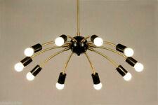 Mid century style Modern Brass 10 Swivel Arms Sputnik Chandelier Light Fixture