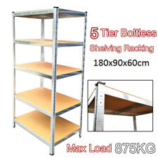 5 Tier (180cm x 90cm x 60cm) Heavy Duty Metal Galvanised Shelving Rack Unit UKDC