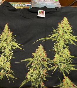 Cannabis  XXL T-Shirt Liquid Blue New Licensed OOP Rare L@@K