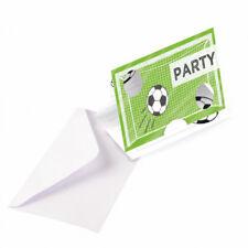 Einladungskarten 8-er Papier Fußball Party   Kindergeburtstag Kicker Party