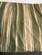 Chaps Ralph Lauren Queen Stripe Bed Skirt Green Purple Beige