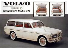 1963 Volvo 122 S Station Wagon, Flat Flexible Refrigerator Magnet, 40 Mil thick