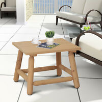 Rustic Log Coffee Table Wood End Table All Weather Indoor Outdoor