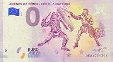 BILLET 0  EURO ARENES DE NIMES LES GLADIATEURS FRANCE 2018 NUMERO DIVERS