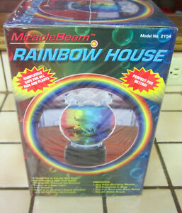 Rainbow House Color Changing Fish Bowl Aquarium Tank - NEW