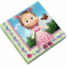 12pcs Napkins Tableware Party Whistle Masha and the Bear Table Party
