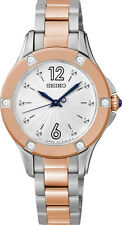 Seiko SRZ422 SRZ422P1 Ladies Crystal Rose Gold Two-Tone Watch WR30m RRP $575.00