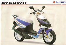 Suzuki AY50 GB Sales Brochure Katana AY50WR AY50WRX Katana R 1999 GSXR colours