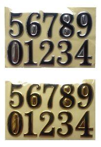 DOOR NUMBER STICKERS Hotel House Address Plaque Digits Plate Sign Vinyl 3D Sheet